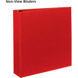 Same quality and long-lasting durability of Avery View Binders without clear customizable cover.