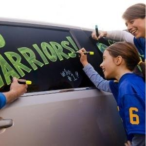 <b> Root for the Home Team </b></br> Grab some Expo Neon markers in the team colors and go wild on the car windows. It's a fun family activity to show your support and comes off when the game is over. Which is especially nice if someone wasn't quite as victorious as they'd hoped.