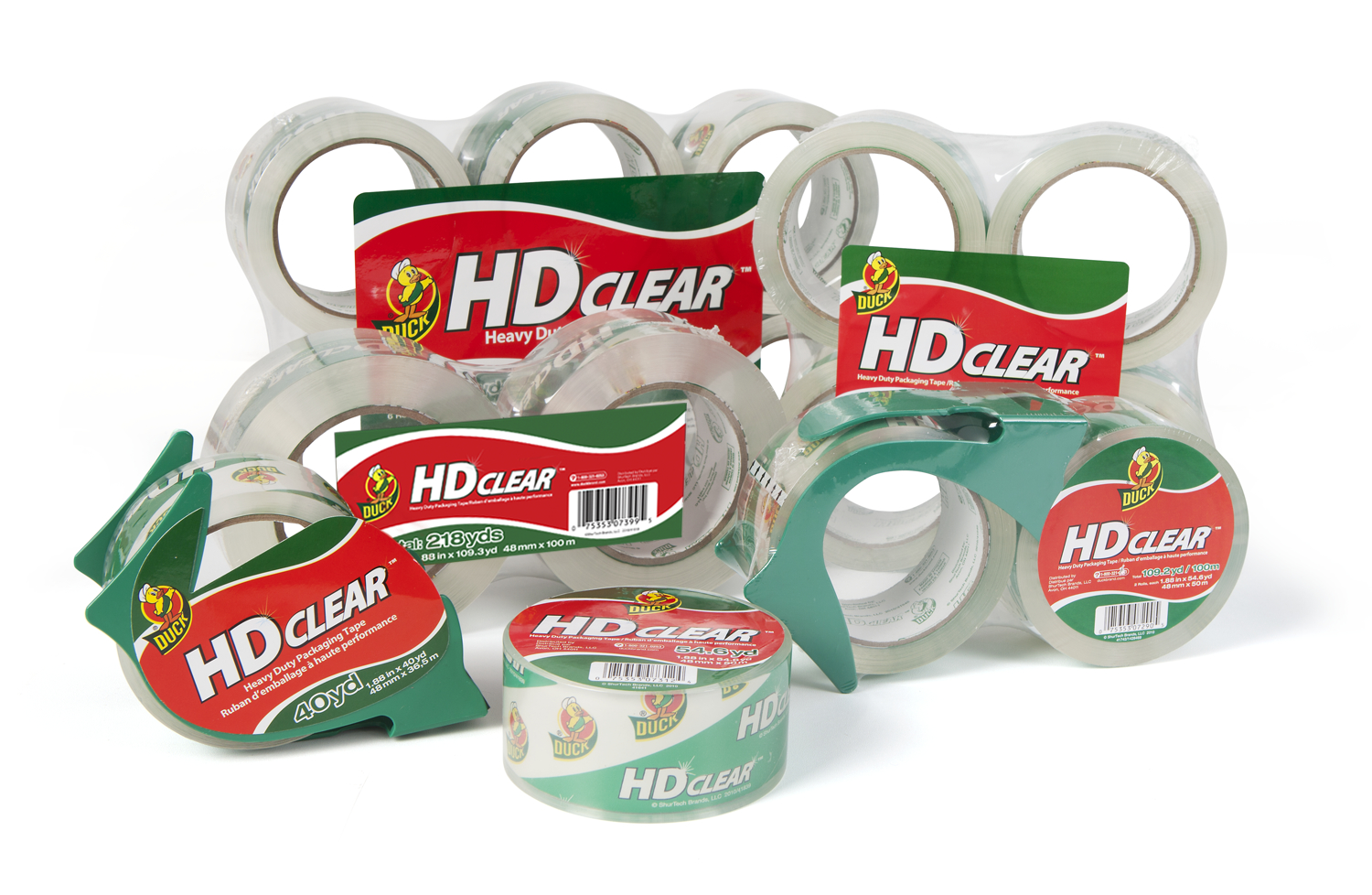 Duck Brand HD Clear Heavy Duty Packaging Tapes